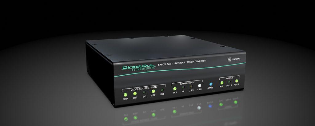 DirectOut Technologies poszerza możliwości konwertera RAVENNA/MADI EXBOX.RAV o wsparcie NMOS IS-04 i IS-05
